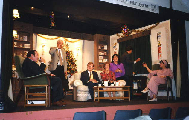 "The Cast at Dress Rehearsal Left to right: David Spear (""Stephen""), Stewart Hiorns (""Henry""), Gareth Lucas (""Victor""), Alison Shepherd (""Ethel""), Ruth Lomond (""Jacqueline""), Ian Evans (""Nicholas""), Katherine Foran (""Pamela"")."