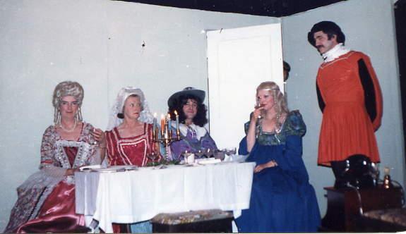 "Cast Members Left to right: Margaret Lloyd (""Mrs Arthur""), Dorothy Morris (""Miss Groze""), Barry Cooper (""Jimmy""), Jackie Cooper (""Beatrice""), Rodney Fryer (""Maurice"")."