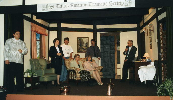 The set and cast.